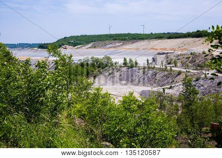 LIMESTONE MINING Cement production with plants front