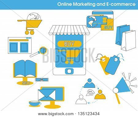 Online Marketing And E-commerce Thin Line.eps