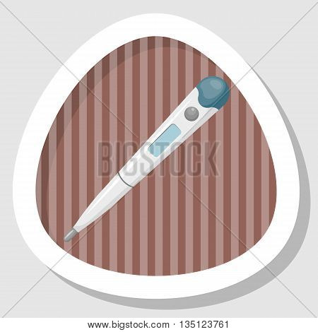 Thermometer Cartoon Colorful Icon
