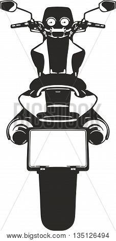 Vector illustration of moto suitable for cutter plotter