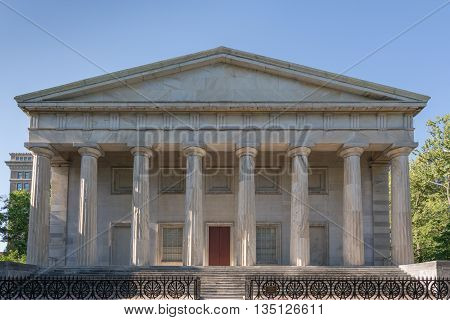 Second Bank of the United States in Philadelphia Pennsylvania