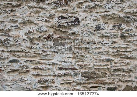 Plaster and Stone Wall Horizontal background image