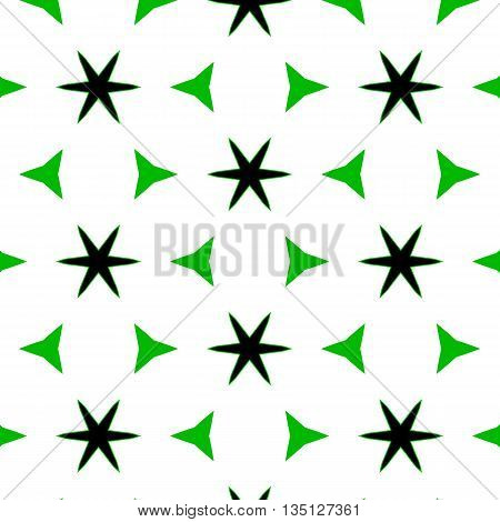 Herbal Vivid Abstract Pattern With Cheerful Flowers.