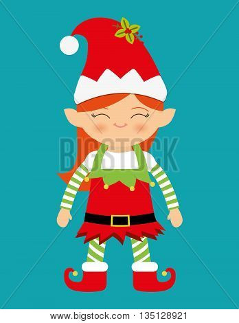 Merry christmas colorful card design, vector illustration eps10