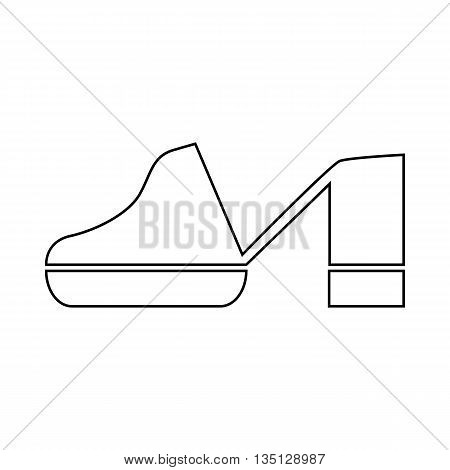 Clogs shoe icon in outline style on a white background