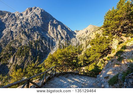 Samaria Gorge On Crete, Grece