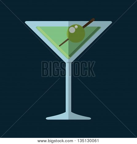 Cocktail glass cup and party club lifestyle, vector illustration graphic