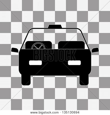 Car icon vector on a transparent background