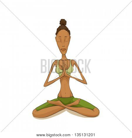 Woman yoga meditating