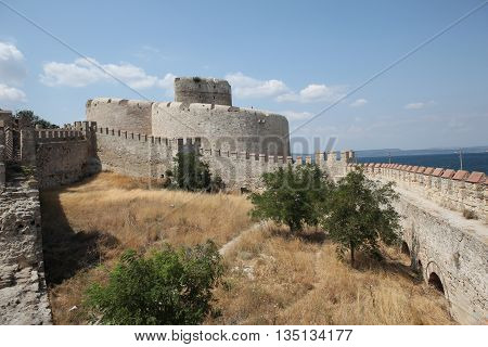 Old Ottoman Kilitbahir Castle in Gallipoli Peninsula, Canakkale, Turkey