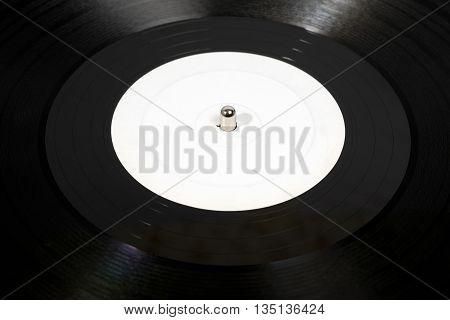 White Analog Vinyl Disc