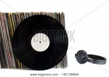 White Vinyl Records On A White Background