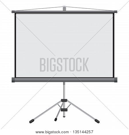 Blank Projection screen vector illustration isolated on a white background