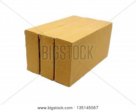 Cardboard boxes isolated on white background texture