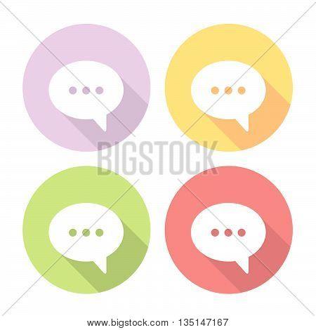 Speech Bubble Chat Icons Set