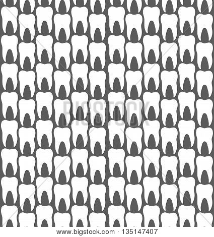 Seamless Dental Molar Teeth Clinic Pattern Background