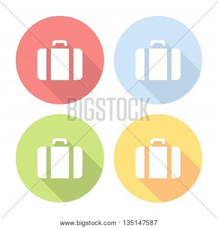 Travel Bag Flat Icons Set