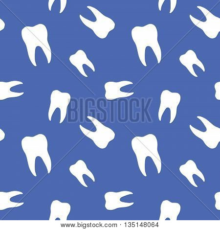 Seamless Molar Teeth Symbol Dentistry Background Pattern