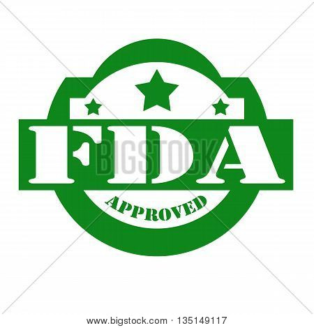 Green stamp with text FDA Approved,vector illustration