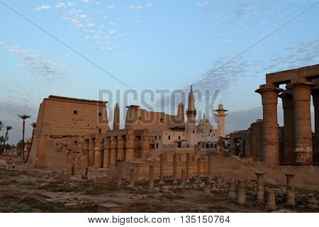 The Pharao Temples of Luxor in Egypt