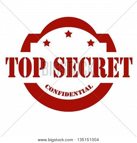 Stamp with text Top Secret, vector illustration