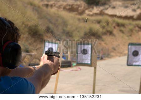 IDPA pistol gun shooting training in Israel