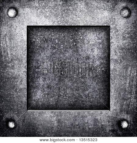 placa de metal bruta