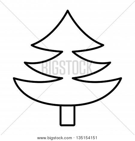 pine tree with wooden log over isolated background, vector illustration