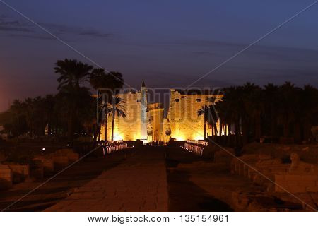 The Pharao Temple of Luxor in Egypt