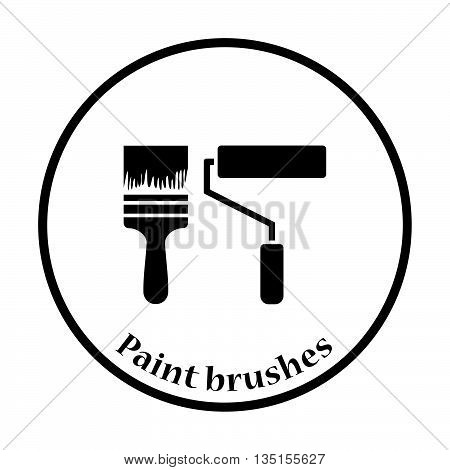Icon Of Construction Paint Brushes