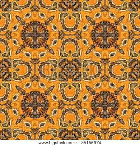 Abstract decorative dark and light brown texture - kaleidoscope pattern