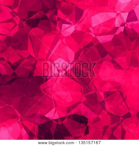 Abstract bright crimson background with polygon pattern