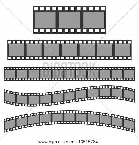Vector black film frame. Film Strip sign