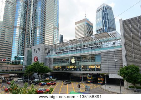HONG KONG - NOV 9: Hong Kong One International Finance Centre (IFC1) building, IFC Mall and Central Metro Station on Nov 9, 2015 in the Hong Kong Island, Hong Kong.