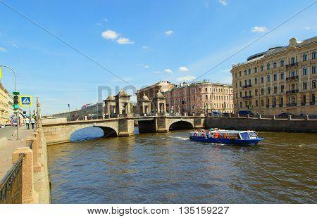 Lomonosov Bridge across the Fontanka River in Saint Petersburg