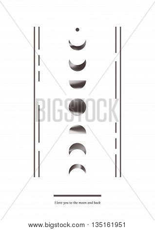 Vector abstract illustration with black and white holographic elements. Can be used as cover for book poster or postcard.