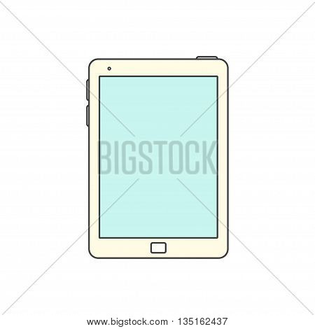 Tablet computer Icon. Isolated on white background. Vector Tablet with blank screen.
