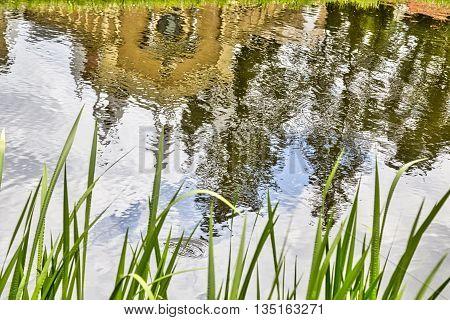 Woerlitzer Park, Gothic House Mirroring In Water