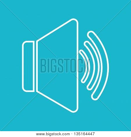 Bullhorn megaphone  graphic icon design, vector illustration