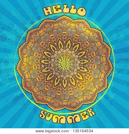 Hippie style. Ornamental vintage background. Love and Music with hand-written fonts, hand-drawn doodle background and textures. vector illustration. Woodstock Music and Art Fair. We love hitchhiking