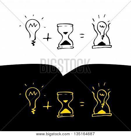 Time ideas logo, vector illustration for your design, eps10