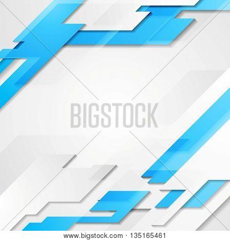 Blue grey hi-tech geometric abstract bright background. Raster copy