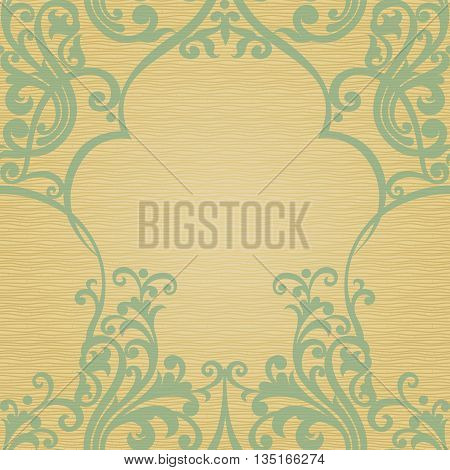 Traditional floral pattern in retro style. Ornamental wallpaper. Background in Victorian style. It can be used for wallpaper pattern fills web page background surface textures classic fabric.