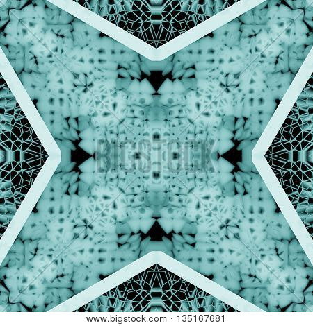 Cold Abstract Geometric Particles Kaleidoscope Design Background