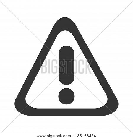 black warning sign with circle and lines over isolated background, vector illustration