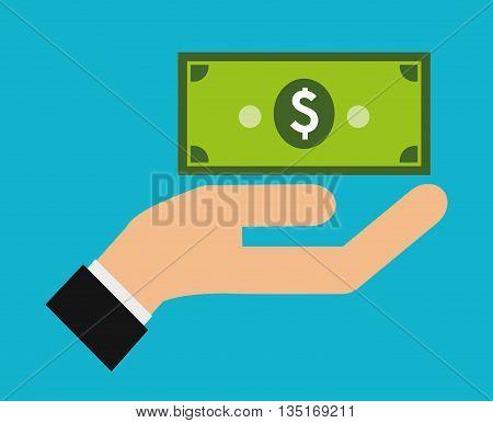 Money savings graphic design, vector illustration eps10