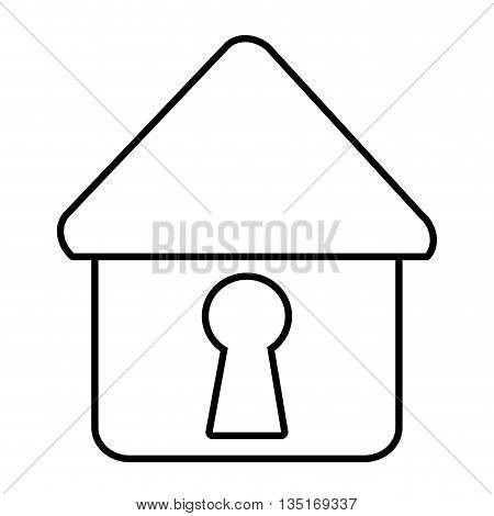 white house icon with white key space over isolated background, vector illustration