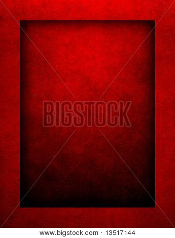 red paint background with border