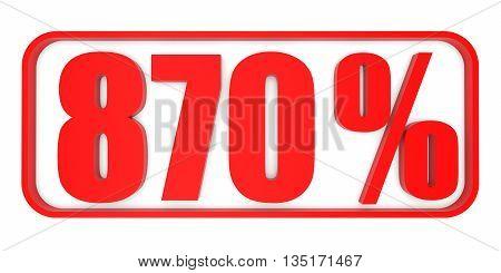 Discount 870 Percent Off. 3D Illustration.