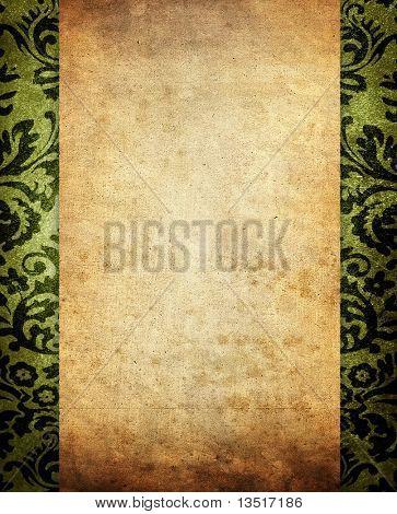 vintage scroll background